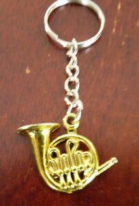Collectible-Plastic-Keyring-Miniature-Golden-Horn-Music