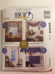 Vintage-McCalls-Pattern-8604-Cafe-Curtains-Easy-amp-Fast-New-Uncut-Pattern