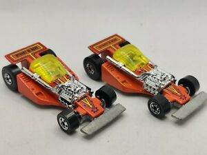 Vintage-1981-Hot-Wheels-Land-Lord-Street-Is-Neat-Orange-Collector-Toy-Cars-TWO