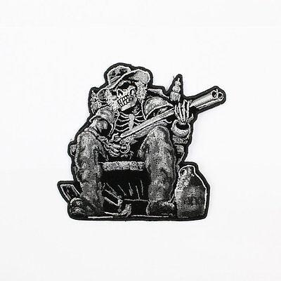 2019 Nieuwste Ontwerp Biker Motorrad Choppers Moonshine Skeleton Redneck Gun Aufbügler Aufnäher Patch