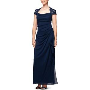 SLNY Womens Floral Embellished Formal Evening Dress Gown Plus BHFO 4809