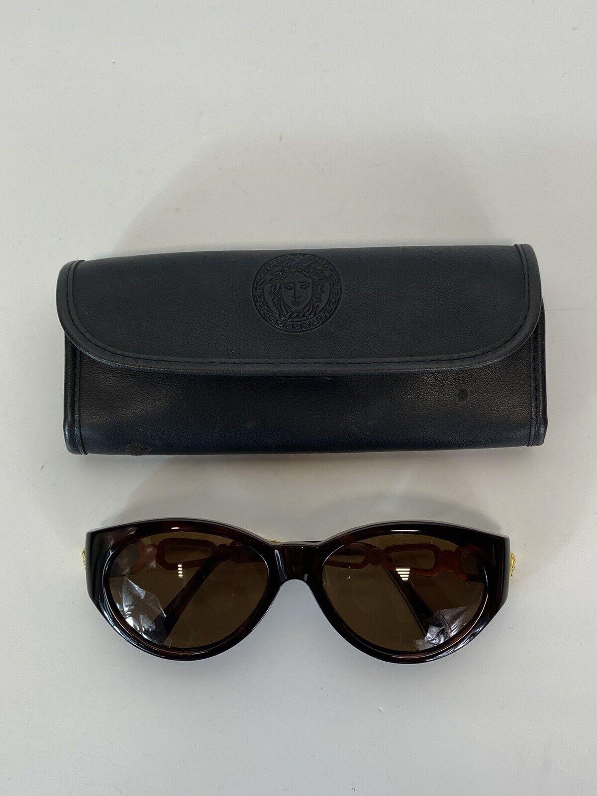 Rare Vtg Gianni Versace Brown Gold Medusa Sunglas… - image 7