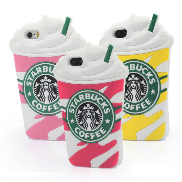 Starbucks 3D Silicone Coffee Cup Phone Case Cover For iPhone 5S 6 6plus Samsung