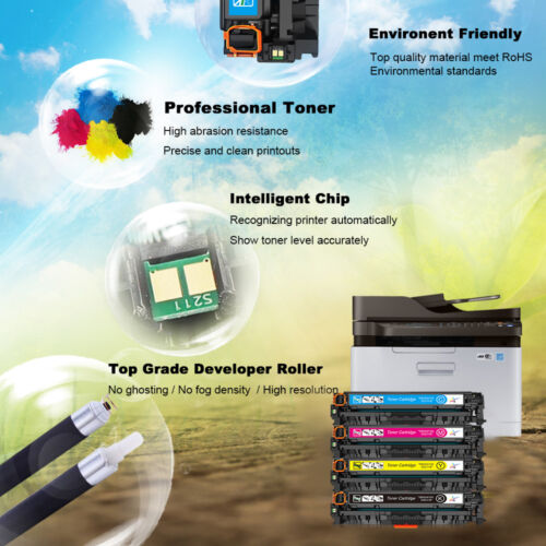 4-10PK For HP CC530A 533A 304A Toner Cartridge Color Laserjet CP2025dn Printer