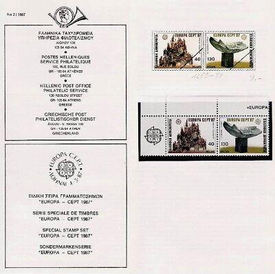 QualitäT In Realistisch Briefmarken Sondermarken Griechenland Europa Cept 1987 Postfrisch Aus Nachlass üBerlegene