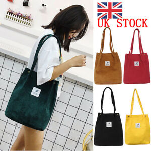 e3dc9d00140c3 UK Women Durable Canvas Tote Bag Large Capacity Handbag Casual ...