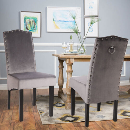 Pair of 2 4 Fabric Chairs Upholstered Seat For Dining Room Living Room Kitchen
