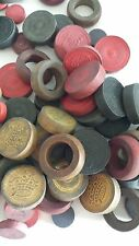 LOT OF OVER 90 CARROM GAME PIECES - VINTAGE - WOODEN - CRAFTS - REPLACEMENTS