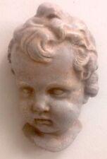 Clearance Eros Cherub Angel Face Wall Plaque Antique Finish