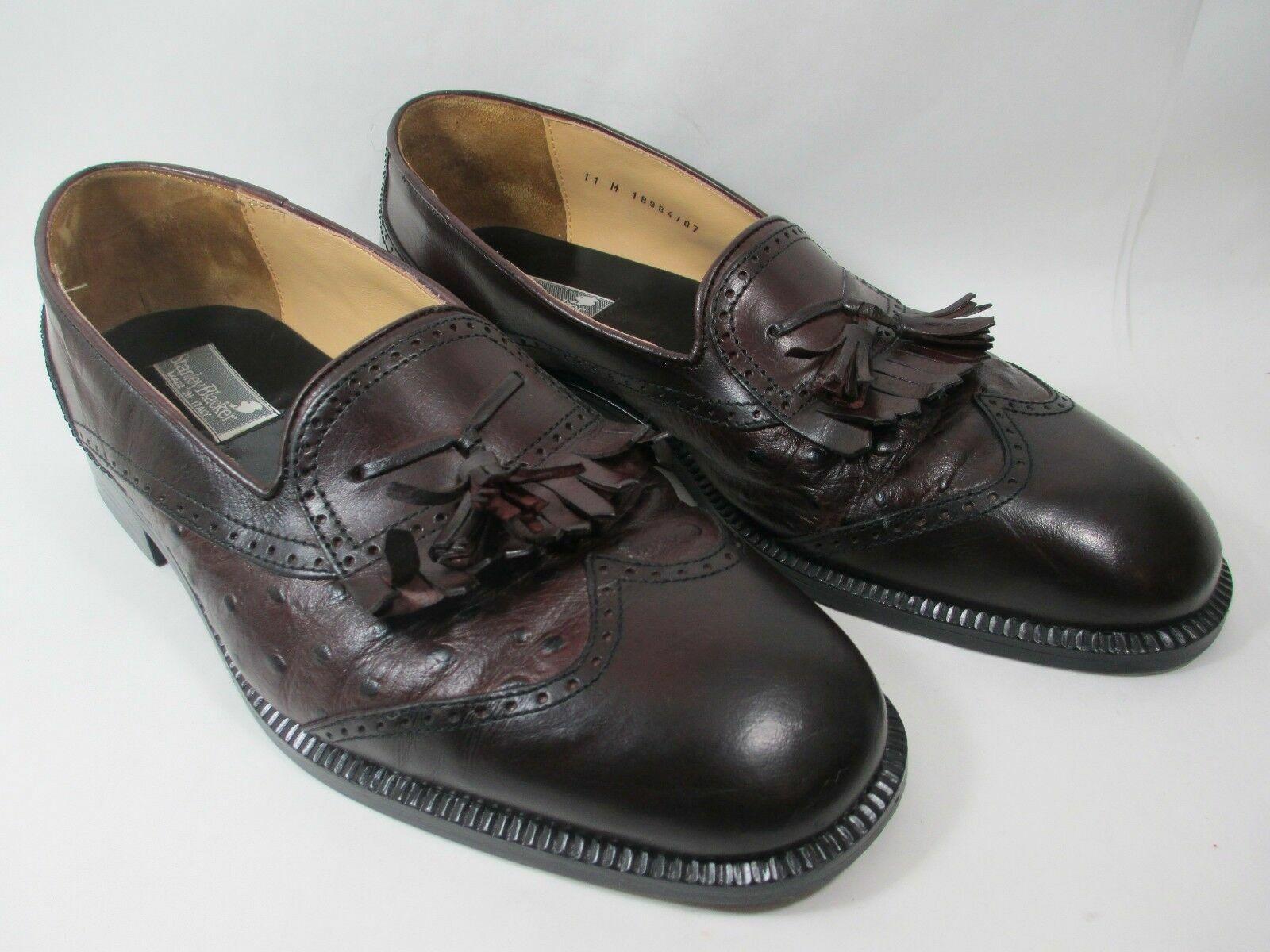 Sconto del 70% a buon mercato Stanley neroer  Marrone Leather Faux Ostrich Wingtip Tassel Dress Dress Dress scarpe 11 M  risparmia il 60% di sconto