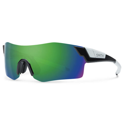 NEW Smith Pivlock Arena Sunglasses Black Chromapop Sun Green Mirror 2 Lens Set