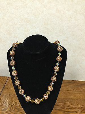 Joan Rivers Classics Collection Cheetah Bead & Crystal Necklace