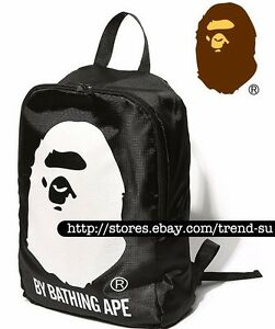 A Bathing Ape Bape Backpack Knapsack Rucksack School Travel Hiking