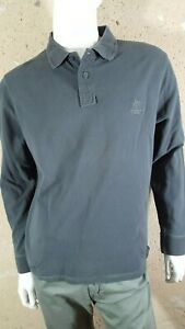 STATUS-Taille-XL-Superbe-polo-manches-longues-gris-fonce-homme