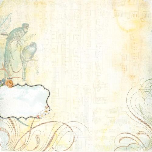 Basicgrey SERENADE 1x scrappapier motifs différents 30,5x30,5 cm