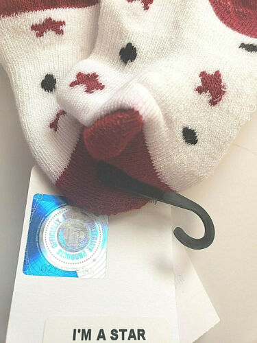 Oklahoma University Infant BABY SOCKS 6-12 or 12-24 Months Sooners NWT 2 Pairs