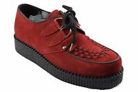 Steel Ground Shoes Red Suede Creepers Low Sole D Ring Casual Sc400z5