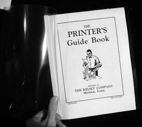 The Printer/'s Guide Book complete instructions for manual press NEW Kelsey