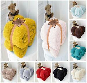 Nuevo-Teddy-Polar-Suave-Imitacion-Luxuries-tirar-Manta-Cobertor-de-cama-polar-calida-Todas-Las