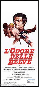 L-039-ODORE-DELLE-BELVE-LOCANDINA-CINEMA-FILM-FRANCE-1973-L-039-ODEUR-DES-FAUVES-AFFICHE