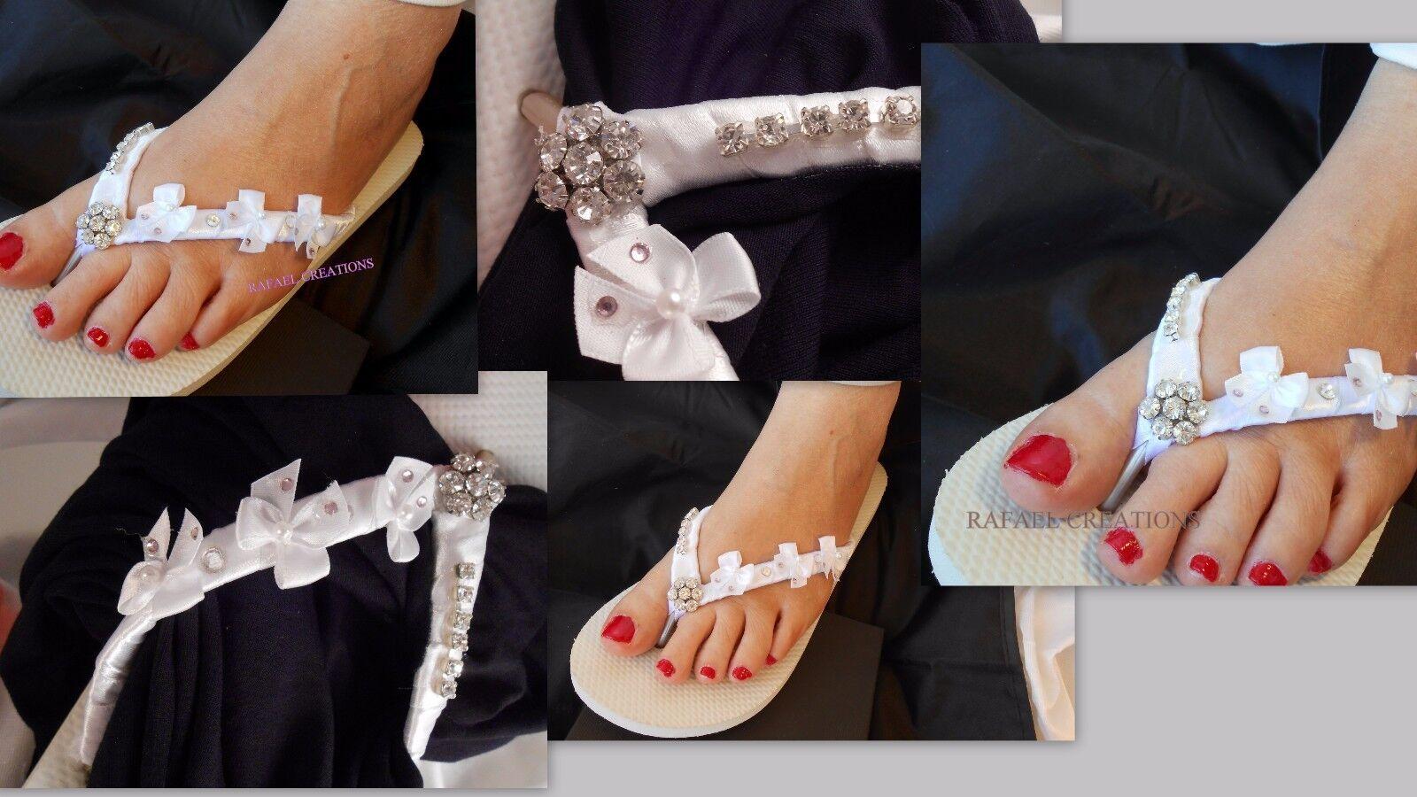 Havaianas Flip Flops Swarovski Kristalle Braut NEU Geschenk NEU Braut Romantische flache e21f46