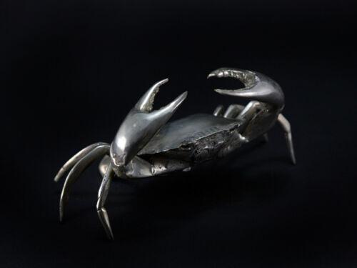 Cancer 5 tailles personnage crabe ARGENTÉ DÉCO Cadeau Mariage Argent patine personnage