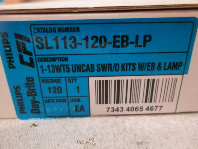 New Phillips Day-Brite Undercabinet Light SL113-120-EB-LP 120V Free Shipping