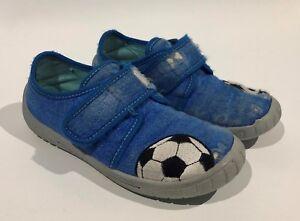 new concept d0453 73c5f Details zu Superfit Hausschuhe für Jungen Blau Größe 29 mit Klettverschluss  Fußball Kinder