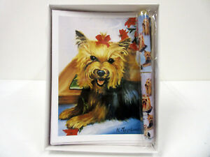 image is loading new yorkshire terrier dog holiday cards amp pen - Dog Holiday Cards