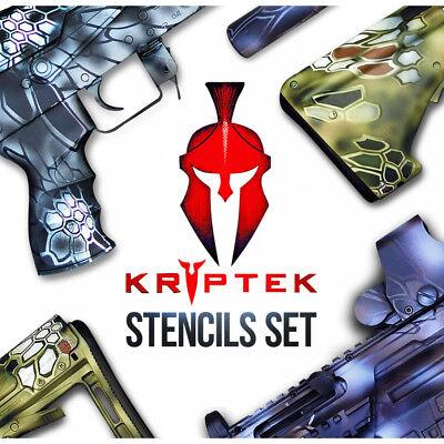 Stencil Camo KRYPTEK Style Adhesive Vinyl Big Set-1 Cerakote Duracoat Gunkote