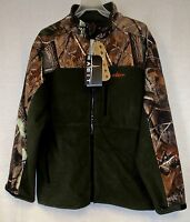 Lg Realtree Ap Camo & Olive Windproof Soft Shell & Fleece Hunting Jacket/coat 1k