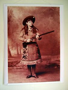 Hi-Q-XL-Format-Art-Print-of-Annie-Oakley-in-1889-Wild-West-Show-36-034-x27-034-Poster