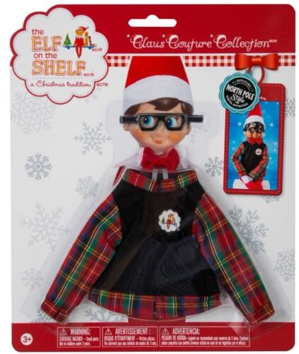 Plaid Sweater Glasses Claus Couture Elf on the Shelf New Holiday Wear
