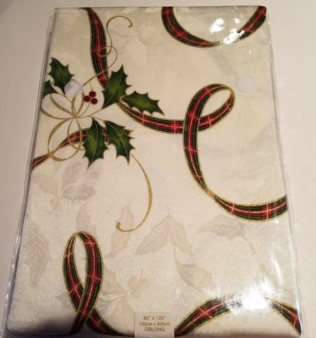 Ivory 47596044681 Lenox Holiday Nouveau Tablecloth 60 by-120-Inch Oblong//Rectangle