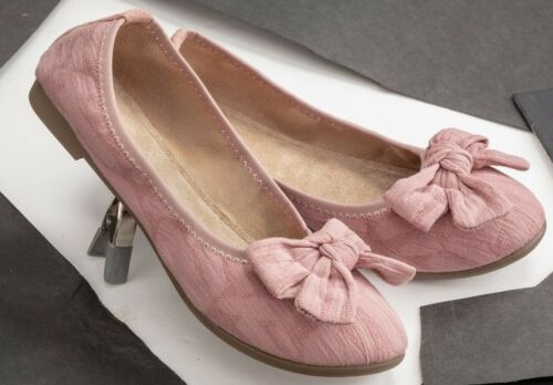 Victorian Trading Co Adelaide Pink w// Bow Ballerina Flats size 6.5 32C