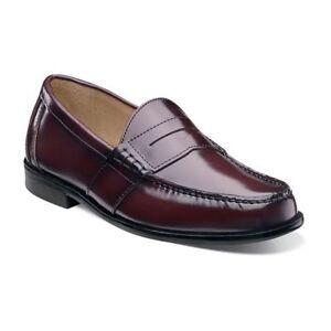 Nunn Bush Men S Kent Moc Toe Penny Loafer Burgundy Shoes