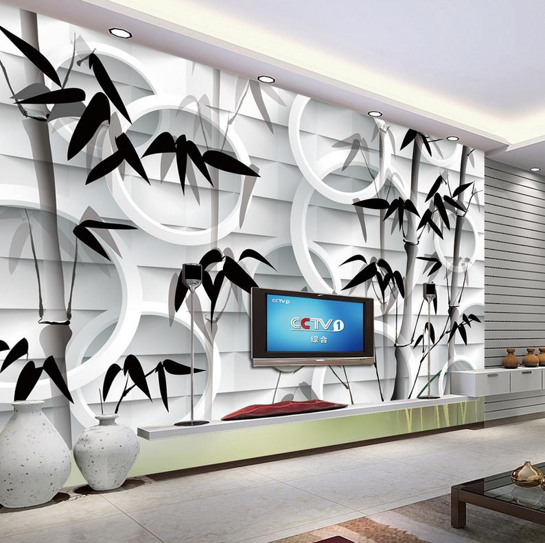 3D Rounds Bamboos 73 Wall Paper Murals Wall Print Wall Wallpaper Mural AU Lemon