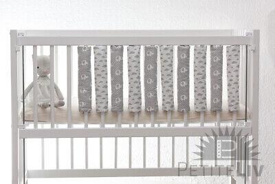 Nestchen 10er-Set Yorick Bettstangenpolster Gitterstabpolster Babybett