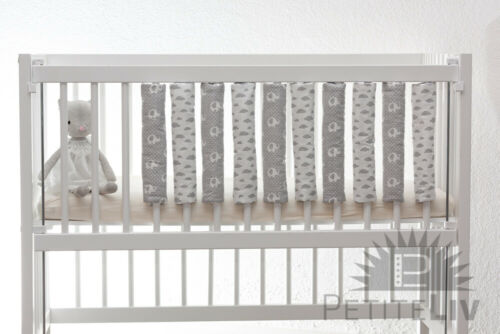 Nestchen 10er-Set Kim Bettstangenpolster Gitterstabpolster Babybett