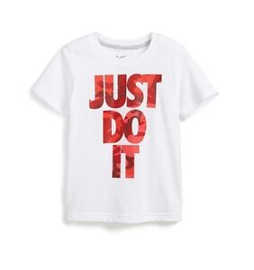 da847f8c Nike JUST DO IT Dri-FIT Graphic T-Shirt Toddler Boys Girls White Red ...