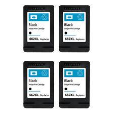 4 Pack for HP 662XL Black Ink Cartridge CZ105AL for Deskjet 1015 1515 2515 2545