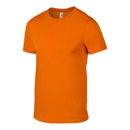 Mens Basic Cotton Double Stitch Short Sleeve T Shirt Plain Casual Fitted Tee Top