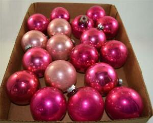 18-PINK-Vintage-Metal-Ornaments-Made-in-the-USA-Lot-3