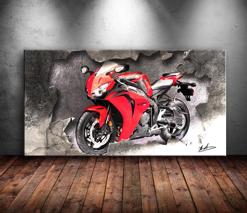 Toile Toile Toile Photos HONDA CBR 1000 RR Moto deco art la fresque art pression 1543 a   New Style  5f7532