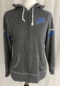 5e65069b Details about Detroit Lions - Gray Full-Zip Hoodie Hooded Sweatshirt -  Women's Medium