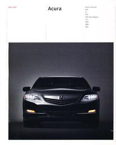 ILX TSX Wagon TL RDX MDX ZDX 2013 Acura 38-page Car Sales Brochure Catalog