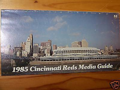 1985 Cincinnati Reds Media Guide Pete Rose