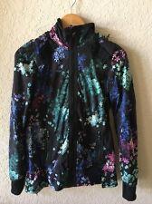 Lululemon Petal Pop Black Pink Blue Green Flower Jacket 4