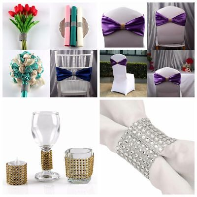 10x Diamond Napkin Ring Serviette Holder Wedding Banquet Dinner Decor Favor UK
