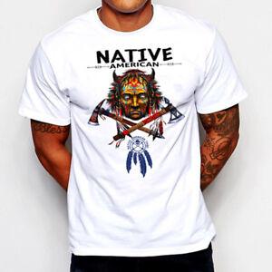Native American Indian T-Shirt Warrior Skull Western Tomahawk navajo ... eb75cacb2488